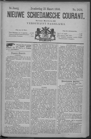 Nieuwe Schiedamsche Courant 1886-03-25