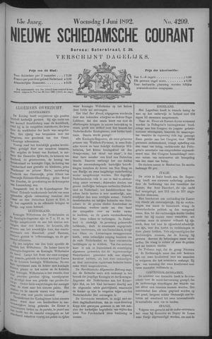 Nieuwe Schiedamsche Courant 1892-06-01