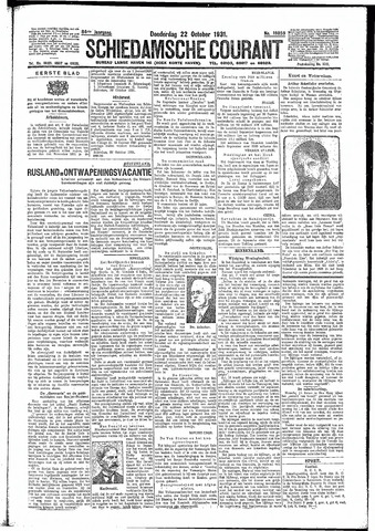 Schiedamsche Courant 1931-10-22