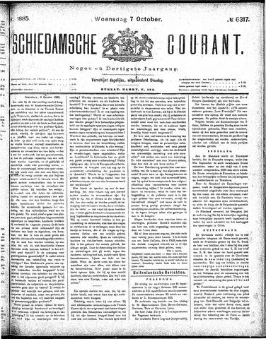 Schiedamsche Courant 1885-10-07