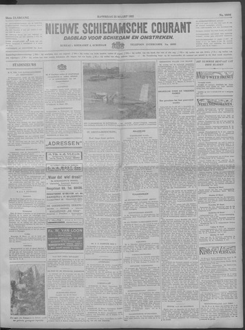 Nieuwe Schiedamsche Courant 1933-03-25