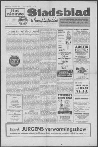Het Nieuwe Stadsblad 1960-08-19
