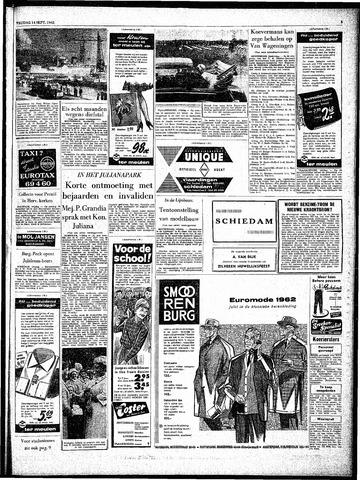 Rotterdamsch Parool / De Schiedammer 1962-09-14