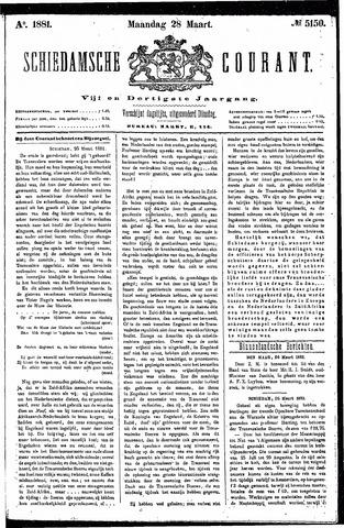 Schiedamsche Courant 1881-03-28