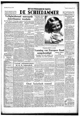 Rotterdamsch Parool / De Schiedammer 1949-01-29