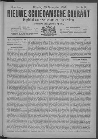 Nieuwe Schiedamsche Courant 1892-12-20
