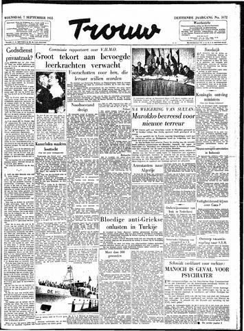 Trouw / De Rotterdammer 1955-09-07