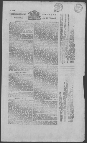 Rotterdamse Courant 1836-02-25