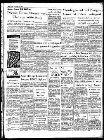 Rotterdamsch Parool / De Schiedammer 1963-02-11