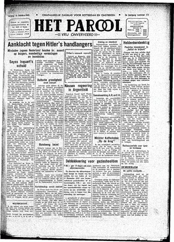 Rotterdamsch Parool / De Schiedammer 1945-10-19