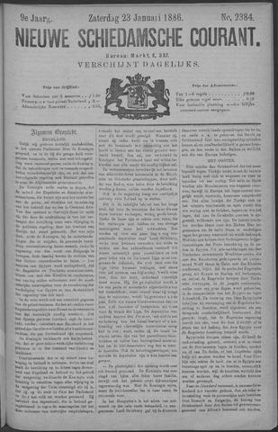 Nieuwe Schiedamsche Courant 1886-01-23