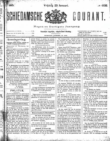 Schiedamsche Courant 1885-01-23