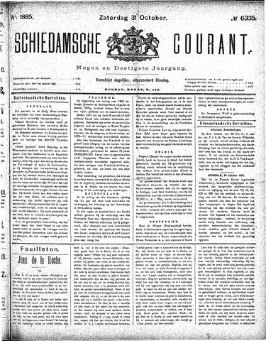 Schiedamsche Courant 1885-10-31