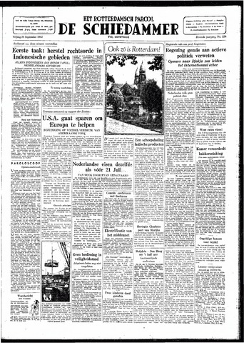 Rotterdamsch Parool / De Schiedammer 1947-09-26