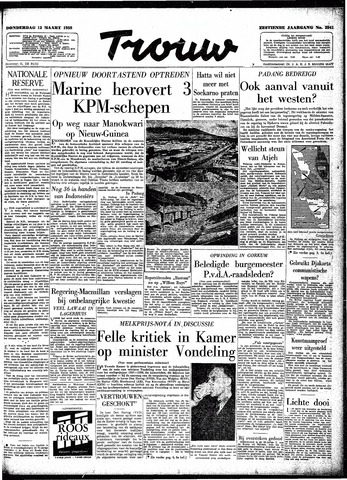 Trouw / De Rotterdammer 1958-03-13