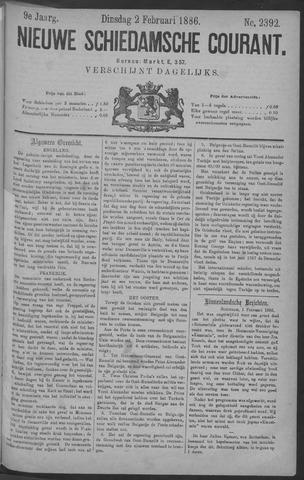 Nieuwe Schiedamsche Courant 1886-02-02