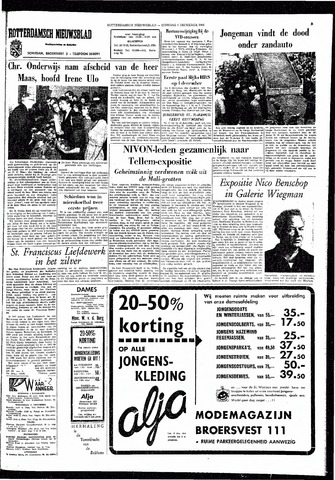 Rotterdamsch Nieuwsblad / Schiedamsche Courant / Rotterdams Dagblad / Waterweg / Algemeen Dagblad 1964-12-01