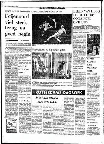 Rotterdamsch Parool / De Schiedammer 1970-10-28
