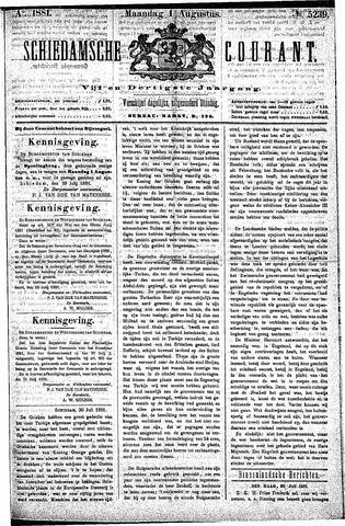 Schiedamsche Courant 1881-08-01