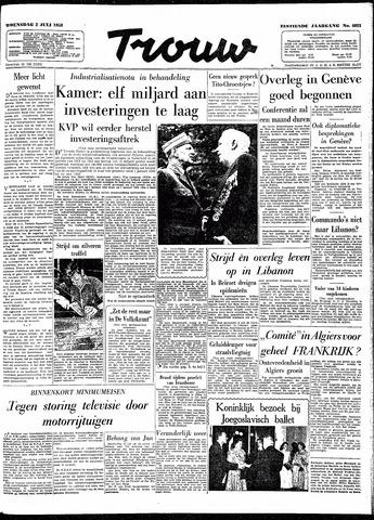 Trouw / De Rotterdammer 1958-07-02
