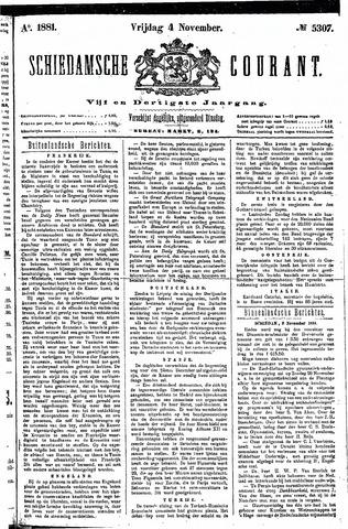 Schiedamsche Courant 1881-11-04