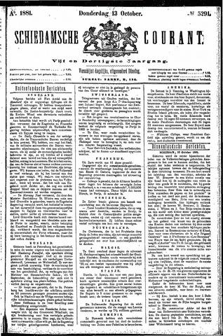 Schiedamsche Courant 1881-10-13
