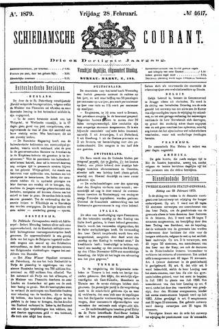 Schiedamsche Courant 1879-02-28