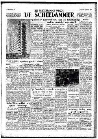 Rotterdamsch Parool / De Schiedammer 1949-09-30