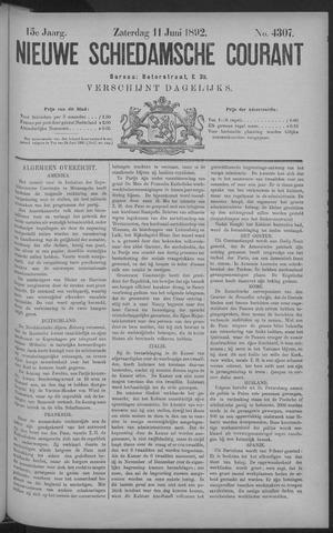 Nieuwe Schiedamsche Courant 1892-06-11