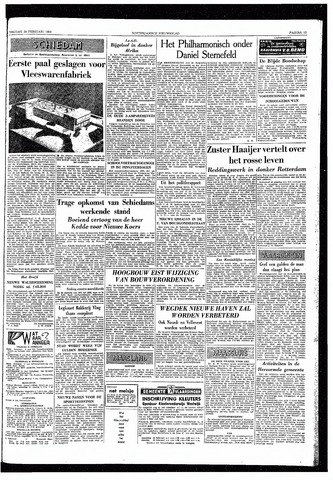 Rotterdamsch Nieuwsblad / Schiedamsche Courant / Rotterdams Dagblad / Waterweg / Algemeen Dagblad 1959-02-20