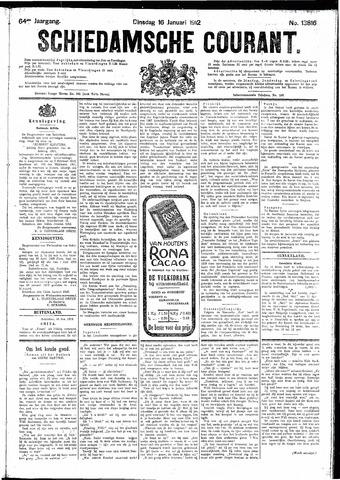 Schiedamsche Courant 1912-01-16