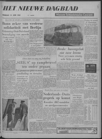 Nieuwe Schiedamsche Courant 1961-06-13