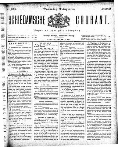Schiedamsche Courant 1885-08-19