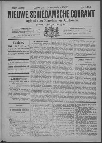 Nieuwe Schiedamsche Courant 1892-08-13