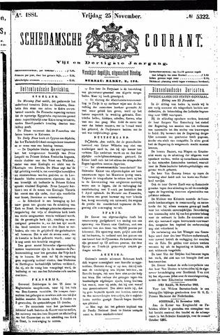 Schiedamsche Courant 1881-11-25