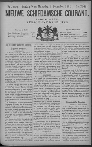 Nieuwe Schiedamsche Courant 1886-12-06