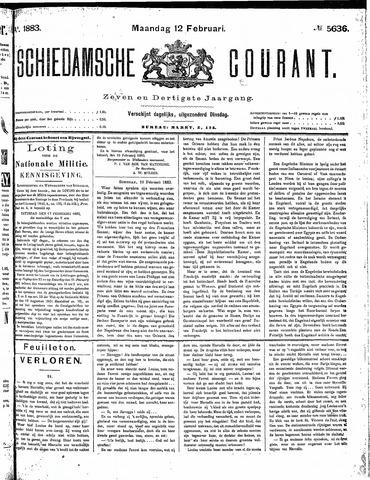 Schiedamsche Courant 1883-02-12