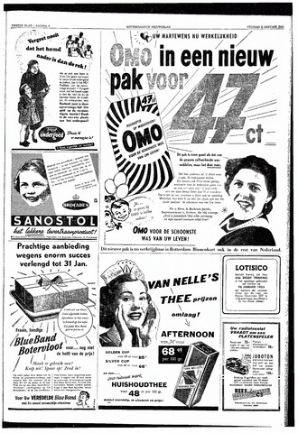 Rotterdamsch Nieuwsblad / Schiedamsche Courant / Rotterdams Dagblad / Waterweg / Algemeen Dagblad 1953-01-09