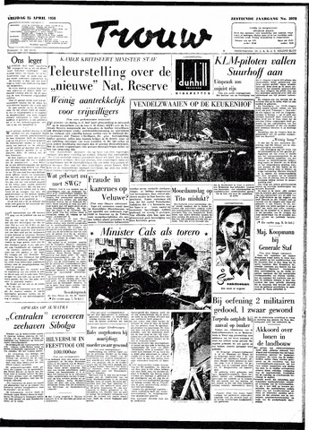 Trouw / De Rotterdammer 1958-04-25
