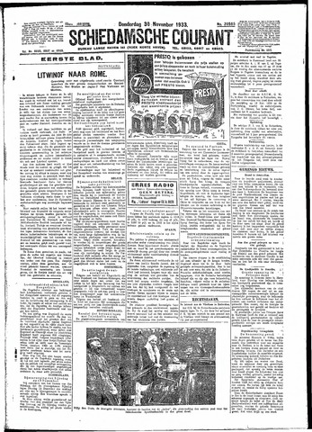 Schiedamsche Courant 1933-11-30