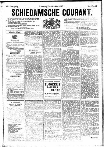 Schiedamsche Courant 1910-10-29