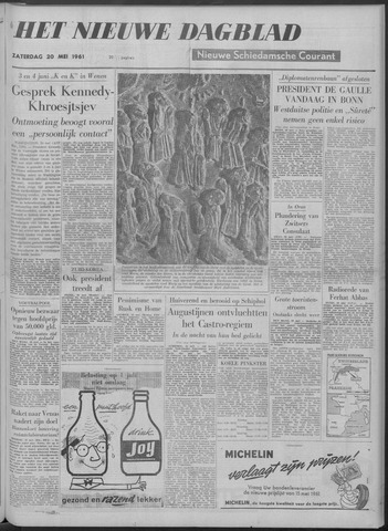 Nieuwe Schiedamsche Courant 1961-05-20