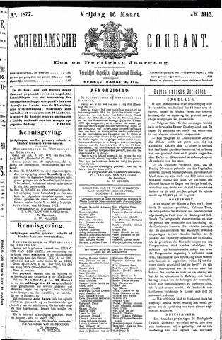 Schiedamsche Courant 1877-03-16