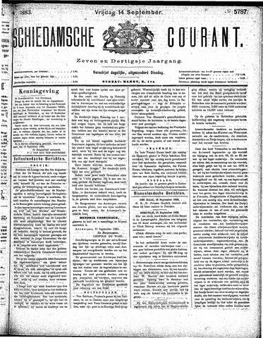 Schiedamsche Courant 1883-09-14