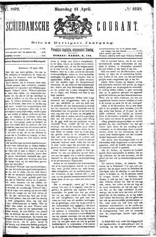 Schiedamsche Courant 1879-04-14