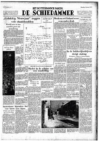 Rotterdamsch Parool / De Schiedammer 1950