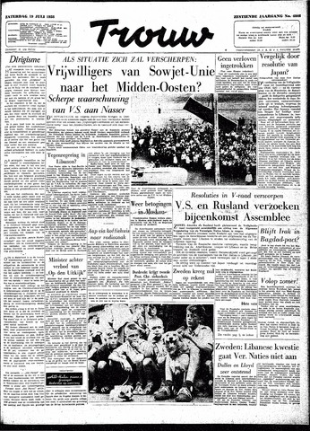 Trouw / De Rotterdammer 1958-07-19