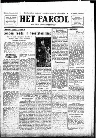 Rotterdamsch Parool / De Schiedammer 1945-08-11