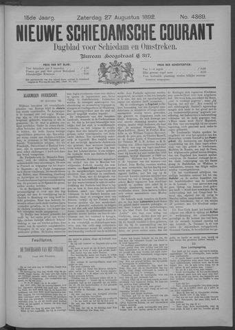 Nieuwe Schiedamsche Courant 1892-08-27