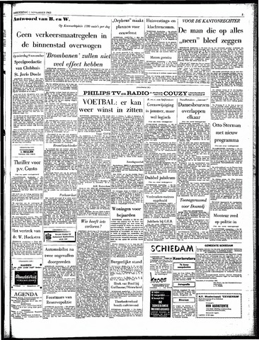 Rotterdamsch Parool / De Schiedammer 1963-11-07